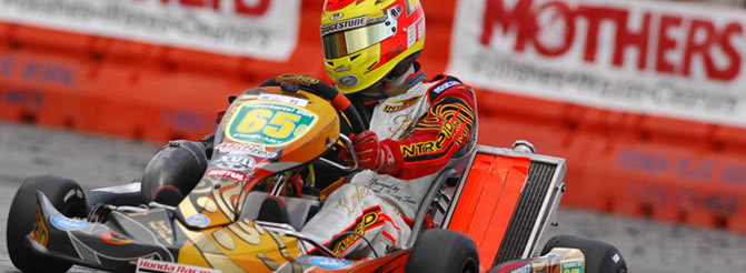 kart racing champion Bryce Cornet